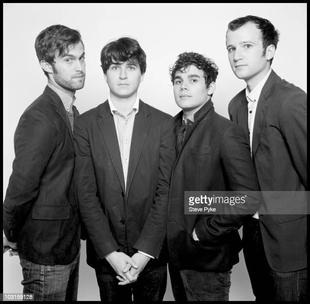 The band Vampire Weekend poses at a portrait session for The New Yorker in 2009 Band members are Rostam Batmanglij Chris Tomson Chris Baio and Ezra...