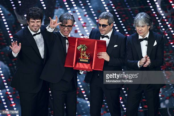 The band who won the 66th Sanremo Music Festival the Stadio Sanremo Italy February 2016
