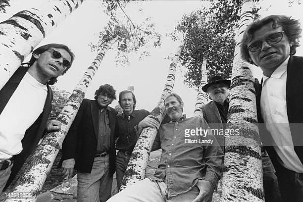 The Band Woodstock New York 1993 Left to right Randy Ciarlante Rick Danko Jim Weider Levon Helm Garth Hudson and Richard Bell