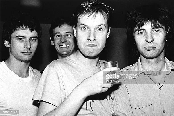 The band XTC Chicago Illinois February 8 1980