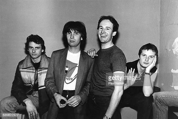 The band XTC Chicago Illinois November 22 1980