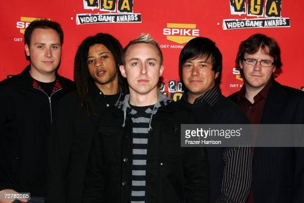 The band Yellowcard arrives at the 4th Annual Spike TV 2006 Video Game Awards held at The Galen Center on December 8 2006 in Los Angeles California