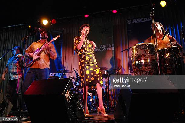 The band Yerba Buena performsonstage at the ASCAP Tribeca Music Lounge held at the Canal Room during the 2007 Tribeca Film Festival on May 1, 2007 in...