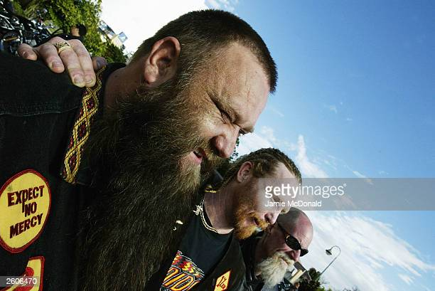 The Bandidos arrive at the Ridges Hotel on October 17 2003 in Caloundra Australia