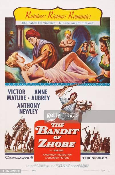 Anne Aubrey Victor Mature bottom Victor Mature on poster art 1959