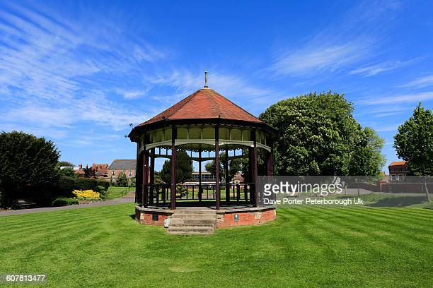 the bandstand, blake park gardens - somerset england stock pictures, royalty-free photos & images