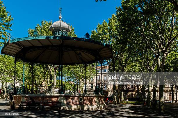 The bandstand, Place Aristide Briand, Sete,Herault, France