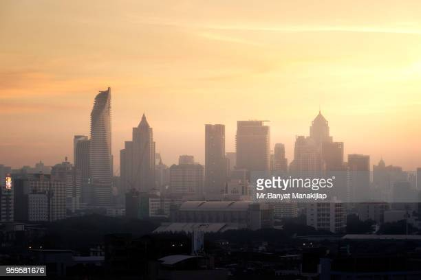 The Bangkok City in early Morning