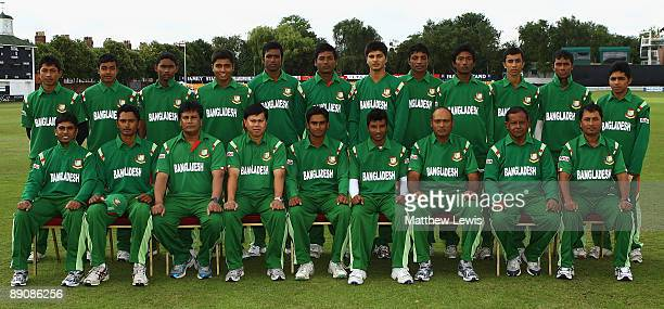 The Bangladesh U19 Team pictured before the Friends Provident One Day International match between England U19 and Bangladesh U19 at Grace Road on...