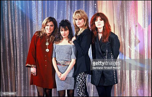 The Bangles music band on 'Champs Elysees' TV broadcast in 1987