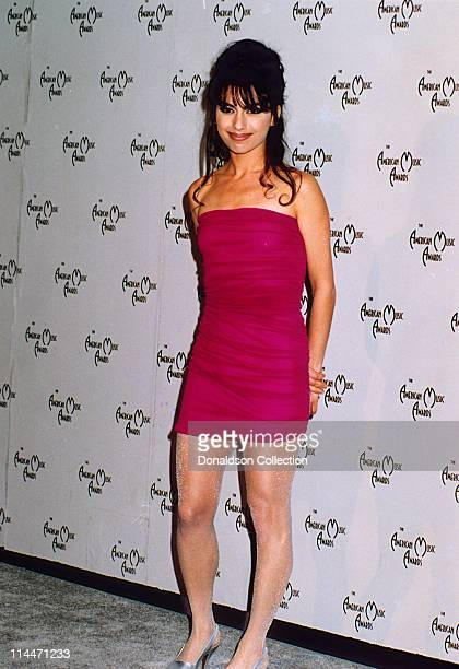 The Bangles' Singer Susanna Hoffs poses for a portrait in 1990 at American Music Awards in Los Angeles California
