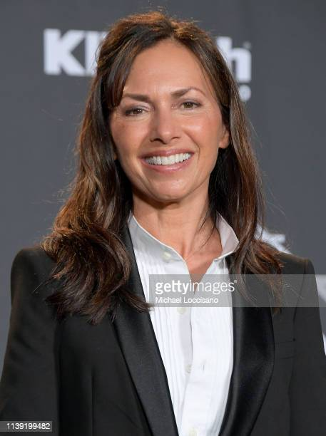 The Bangles' Susanna Hoffs attends the 2019 Rock Roll Hall Of Fame Induction Ceremony Press Room at Barclays Center on March 29 2019 in New York City