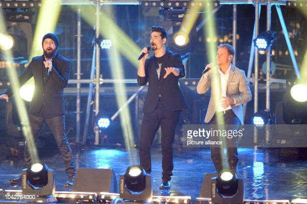 The bank Backstreet Boys  perform with AJ McLean Kevin Richardson and Brian Littrell during the TVTotal High Diving 2013 in Munich Germany 23...
