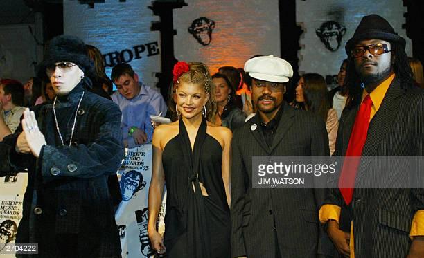 The bank Black Eyed Peas arrives at the MTV Europe Music Awards 06 November 2003 in Edinburgh Scotland AFP PHOTO/JimWATSON