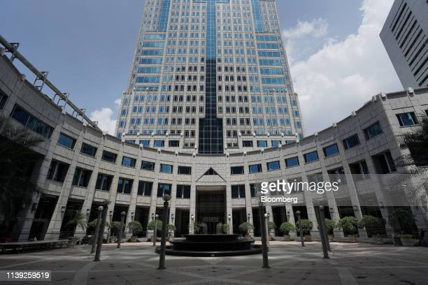 The Bank Indonesia headquarters stand in Jakarta, Indonesia, on Thursday, April 25, 2019. Indonesias central bank left its benchmark interest...