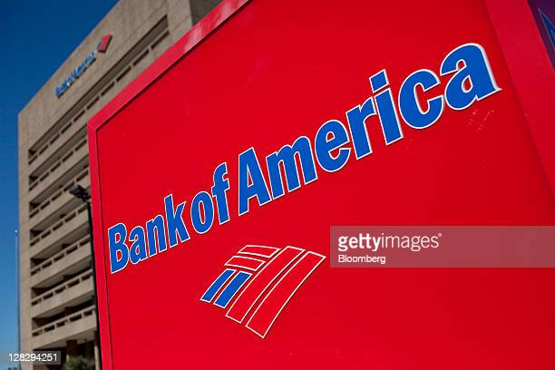 The Bank of America Corp logo is displayed in front of a branch in Galveston Texas US on Saturday Oct 1 2011 Bank of America Corp should face fraud...