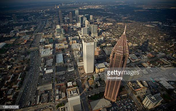The Bank of America Plaza building stands in Atlanta Georgia US on Monday Feb 6 2012 Atlanta's 55story Bank of America Plaza the tallest tower in the...