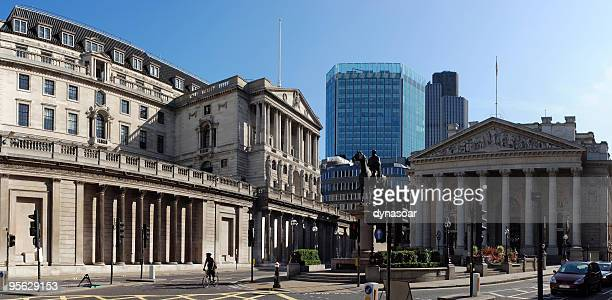 Die Bank von England und Royal Exchange, London