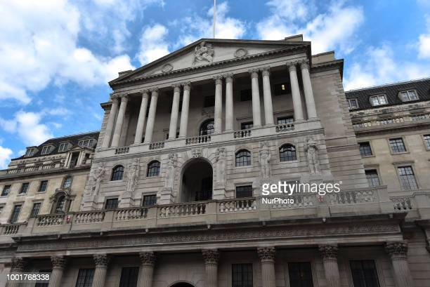 The Bank of England is pictured in the City of London on July 19 2019 Britains banks and insurers must plan for a hard Brexit in case a transition...