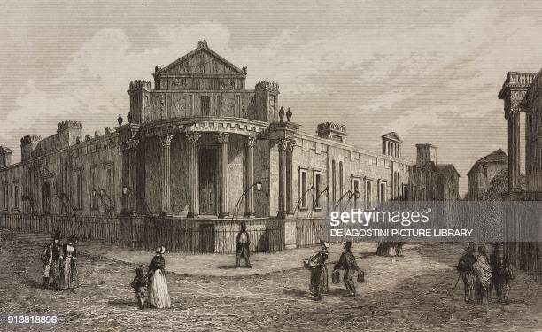 The Bank of England London England United Kingdom engraving by Lemaitre from Angleterre Ecosse et Irlande Volume IV by Leon Galibert and Clement...