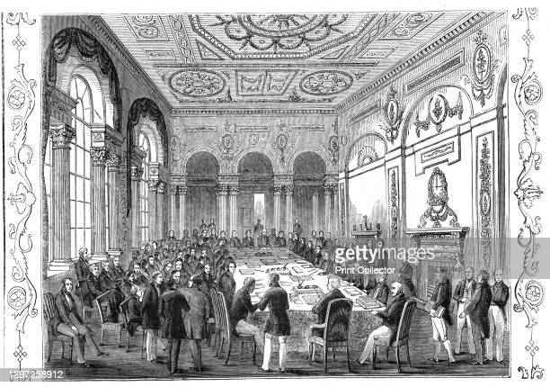 The Bank of England Parlour, 1844. Bankers in the City of London: '...a special meeting of the proprietors of Bank Stock was held, for the purpose of...