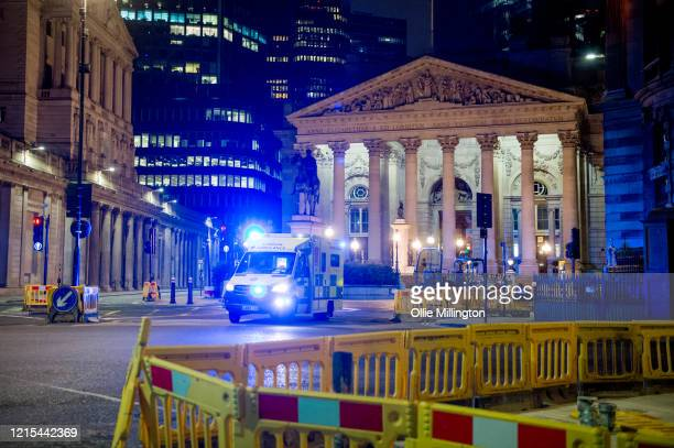 The Bank of England seen on March 28, 2020 in London, England. British Prime Minister, Boris Johnson, announced strict lockdown measures urging...