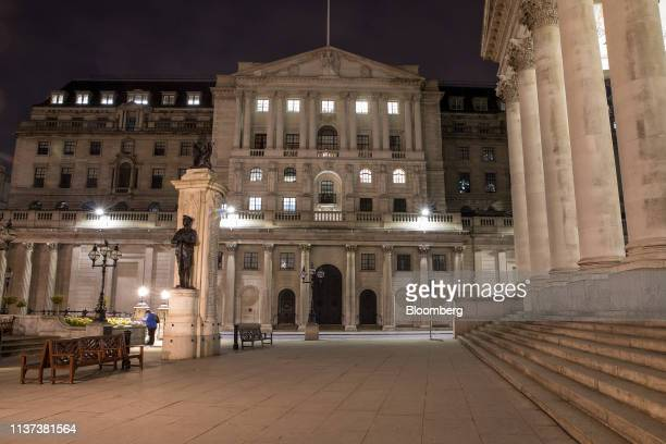 The Bank of England stands in the City of London UK on Monday April 15 2019 Job vacancies in Londons finance industry have halved in two years as...