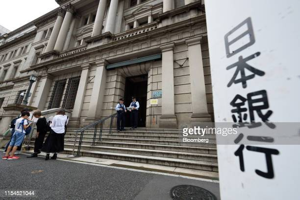The Bank of Japan headquarters stands in Tokyo, Japan, on Monday, July 8, 2019. Governor Haruhiko Kurodasaid extremely low interest rates will be...