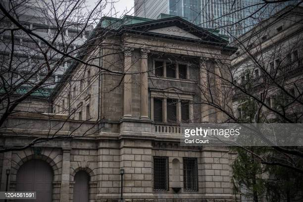 The Bank of Japan is pictured in Tokyo's financial district on March 2, 2020 in Tokyo, Japan. Prime Minister Shinzo Abe continues to urge Japanese...