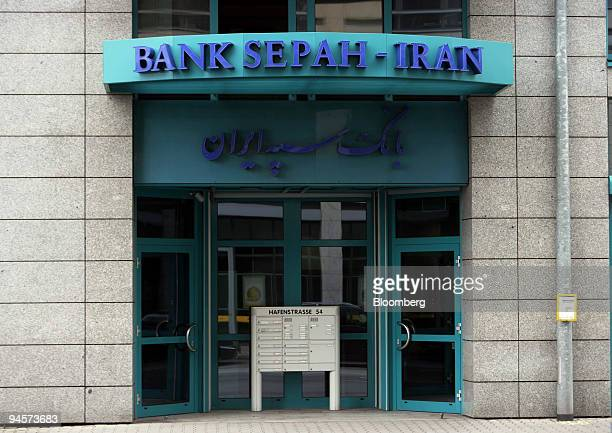 The Bank Sepah International seen in Frankfurt, Germany, Tuesday, July 24, 2007. On Dec. 23 the United Nations Security Council slapped economic...