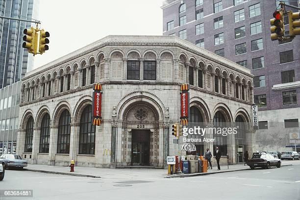 The Bankers Trust Company Building at 205 West Congress St Downtown Detroit Michigan November 1986 Built in 1925 in the Romanesque Revival style it...