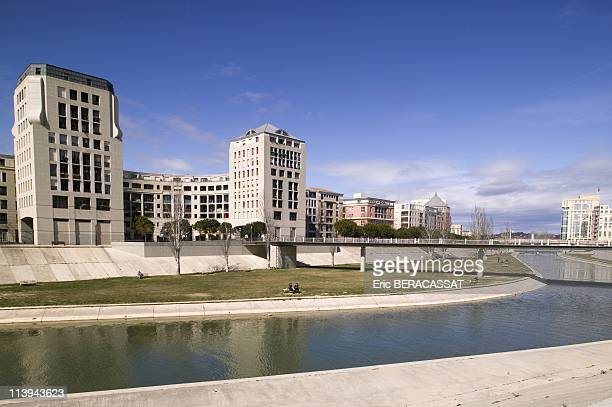 The Banks Of Lez District Antigonein Montpellier Herault France On March 09 2006The Banks Of Lez Are Now Parts Of New Montpellier Not Far From...