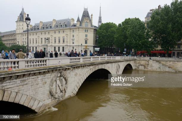 The banks of the Seine in flood in Paris on september 02 2016 in Paris France