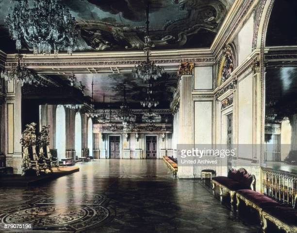 The banquet hall in the Royal Palace in Stockholm Sweden