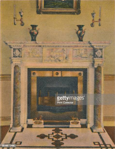 The Banquet Hall Mantel' 1946 From Greetings from Mount Vernon VA [Capitol Souvenir Company Washington DC 1946] Artist Unknown