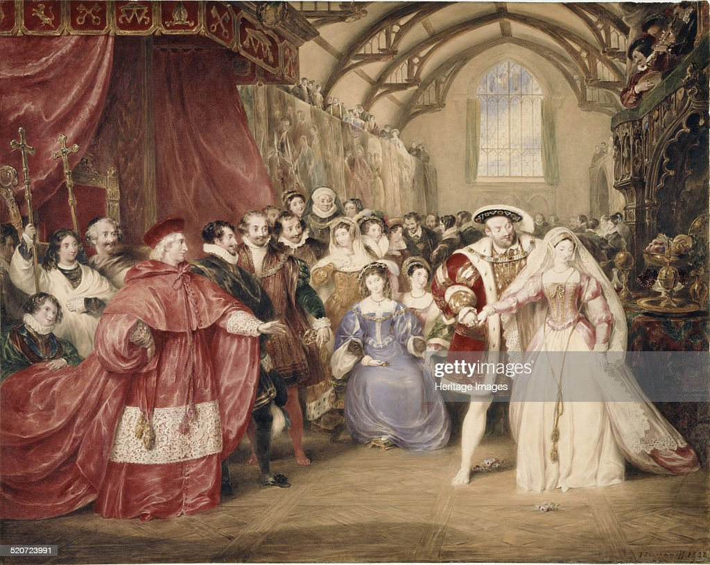 The Banquet of Henry VIII in York Place. Artist: Stephanoff, James (1789-1874) : News Photo