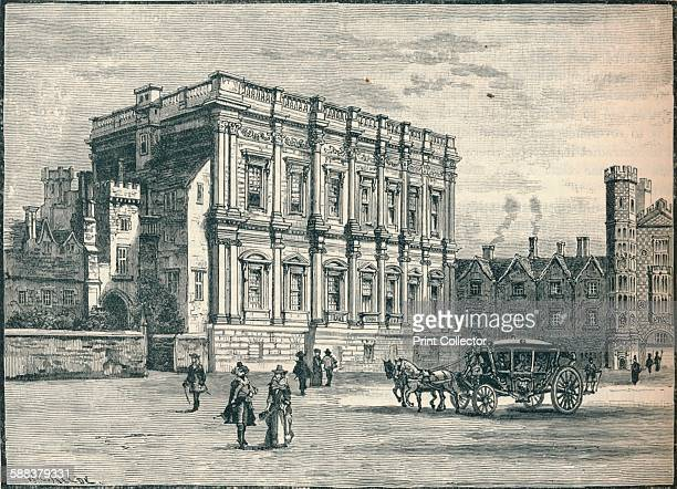 The Banqueting House, Whitehall, London, 17th Century . From Cassell's History of England, Vol. II, .