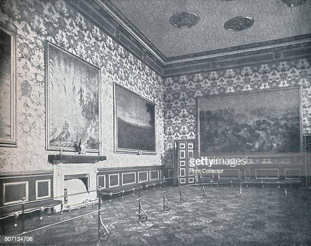 The Banqueting Room at St James's Palace' c1899 From VRI Her Life and Empire by The Marquis of Lorne KT [Harmsworth Bros Ltd London 1901] Artist HN...
