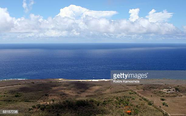 The Banzai Cliff war memorial is seen on June 28, 2005 in Saipan, Northern Mariana Islands. The Banzai is one of the two locations where Japanese...