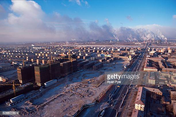 The Bao Steel mill in the early morning in Baotou Inner Mongolia China Baotou is an excellent example of a oneindustry town and that industry is...