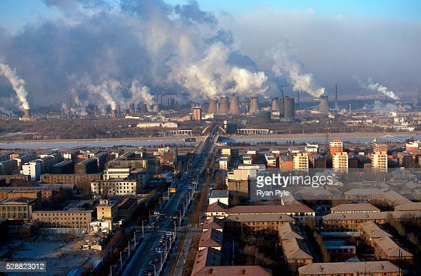The Bao Steel mill in the morning in Baotou Inner Mongolia China Baotou is an excellent example of a oneindustry town and that industry is steel...