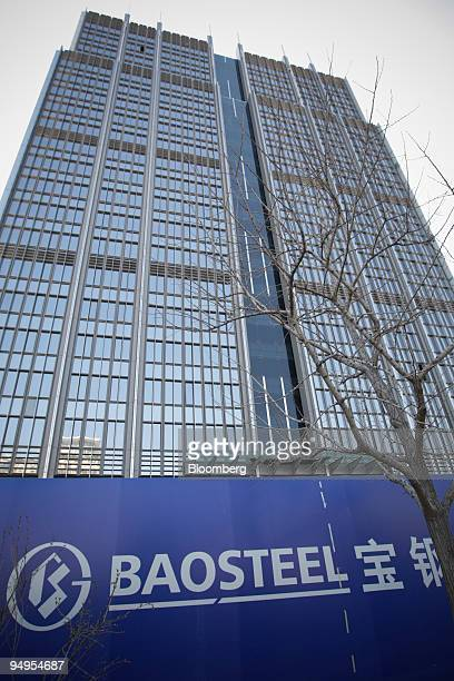 The Baosteel Group Corp building stands under construction in Beijing China on Tuesday March 24 2009 Baoshan Iron Steel a division of Baosteel Group...