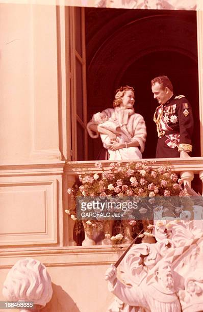 The Baptism Of Caroline Of Monaco Principauté de Monaco 3 mars 1957 Le baptême de Caroline DE MONACO Portrait du prince Rainier DE MONACO en costume...
