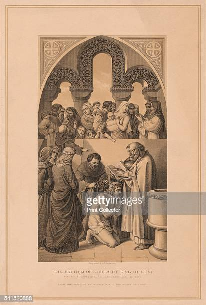 The Baptism of Ethelbert King of Kent' 597 After William Dyce From Pictures and Royal Portraits Illustrative of English and Scottish History by...