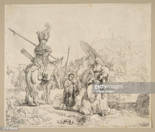The Baptism of The Eunuch, 1641. Artist Rembrandt Harmensz van Rijn.