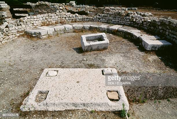 The baptistery 5th century built over the west baths 2nd3rd century archaeological site of Cimiez Nice ProvenceAlpesCote d'Azur France Roman...
