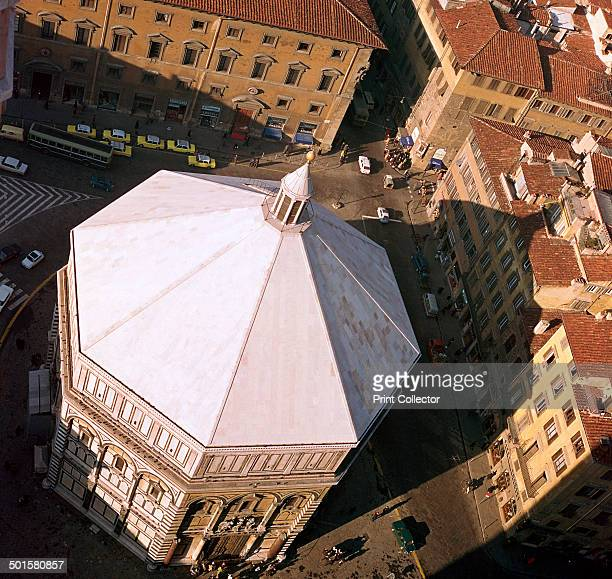The Baptistry in Florence from Giotto's Tower 12th century