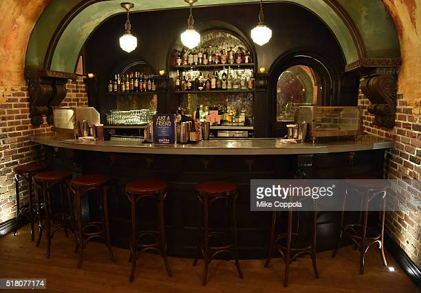The bar as seen prior to EW CNN The Eighties Trivia Event at The Django at the Roxy Hotel on March 29 2016 in New York City