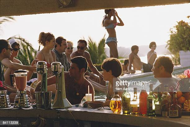 The bar at the Villa Vera Hotel Spa and Racquet Club in Acapulco January 1968