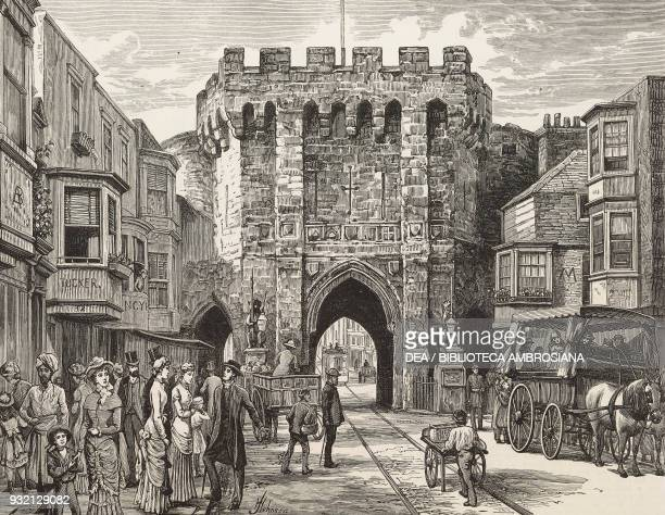 The Bar Gate Southampton United Kingdom illustration from The Graphic volume XXVIII no 711 July 14 1883
